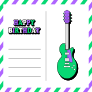 Postcard - Birthday Guitar