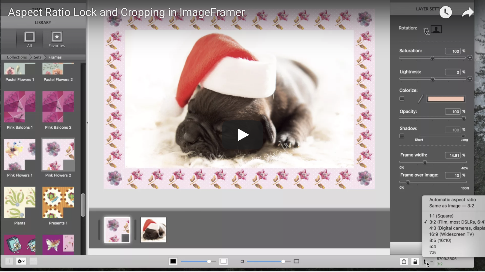 Aspect ratio locking in ImageFramer 3.4