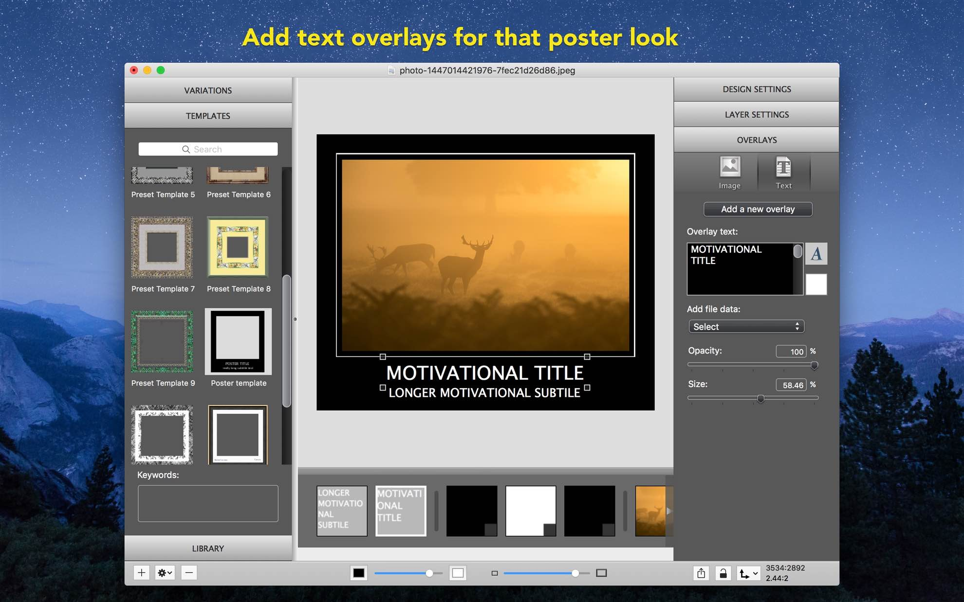Picture framing and photo borders application — ImageFramer