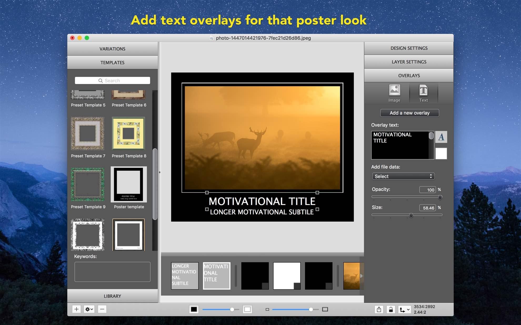Imageframer home imageframer for mac text overlays jeuxipadfo Choice Image