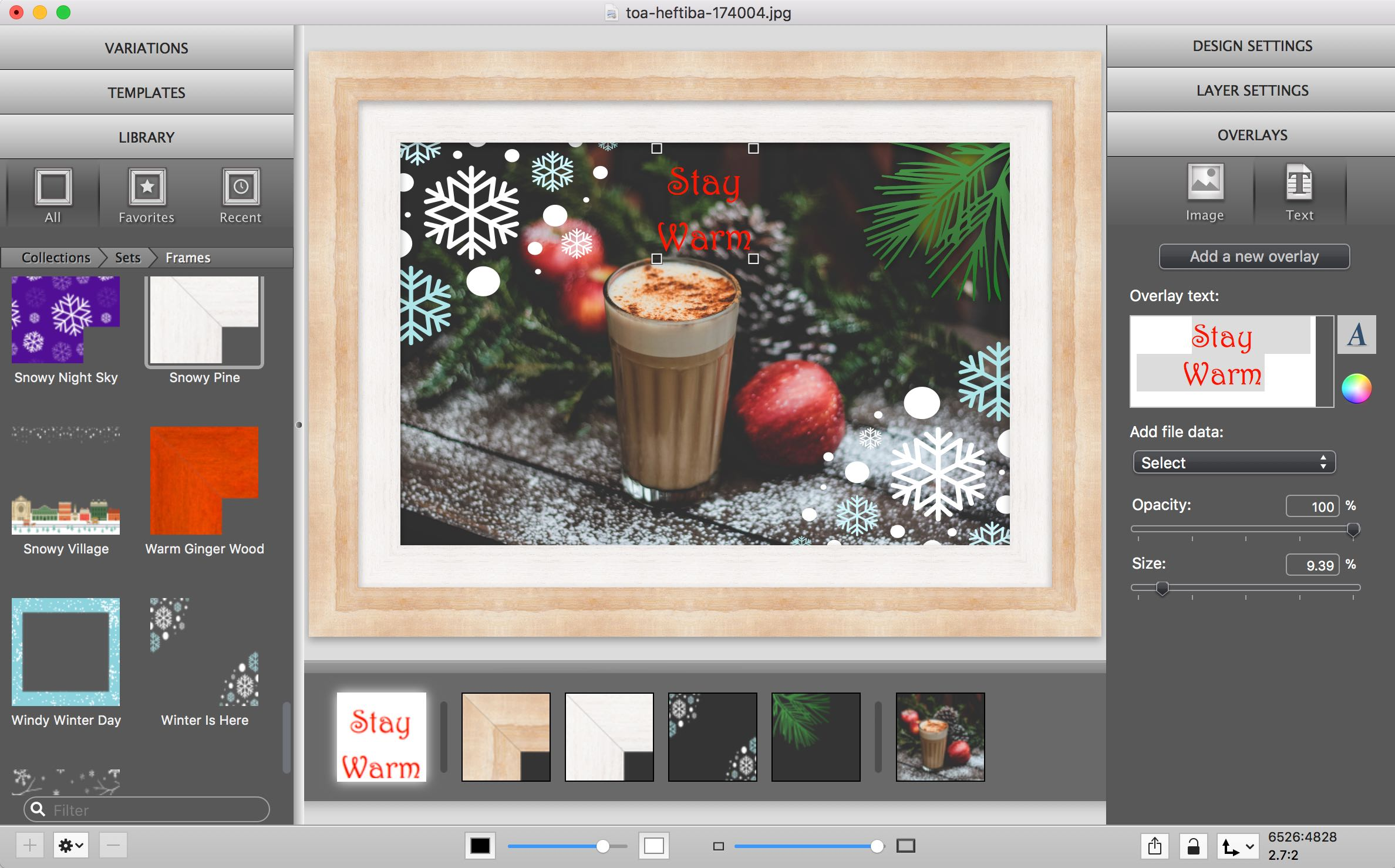 Improved Text Overlays in ImageFramer 4.2