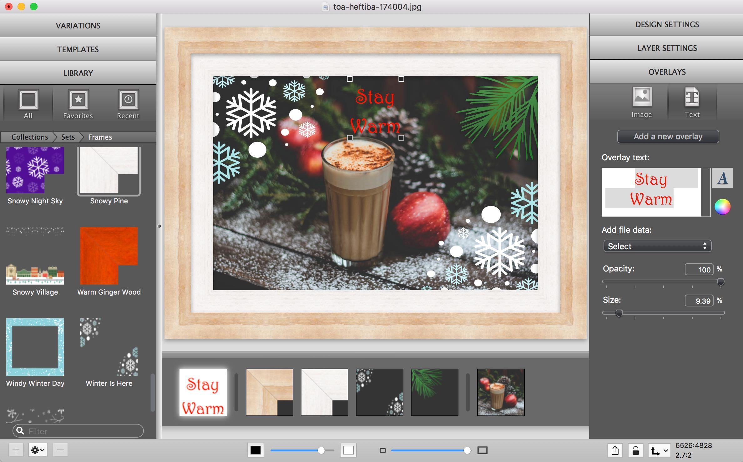 Improved Text Overlays in ImageFramer 4.2