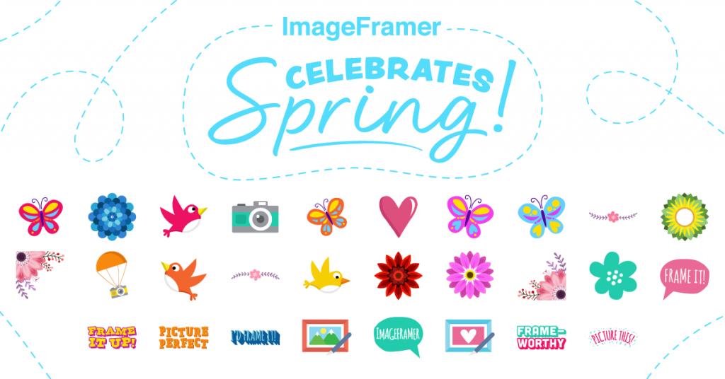ImageFramer Celebrates Spring stickers