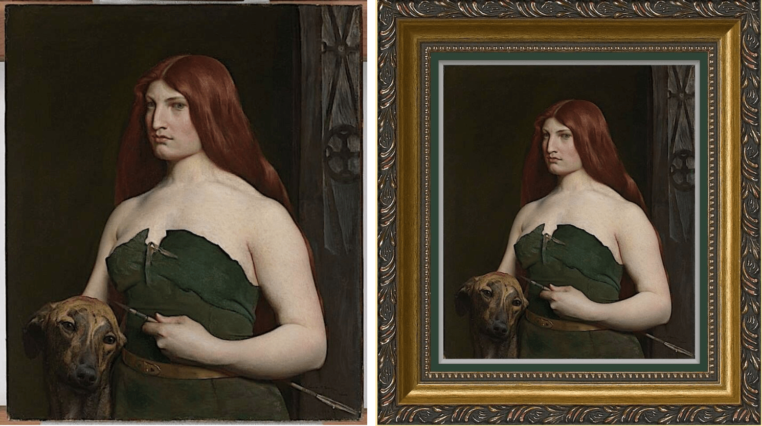George de Forest Brush's Celtic Huntress (1890) Painting
