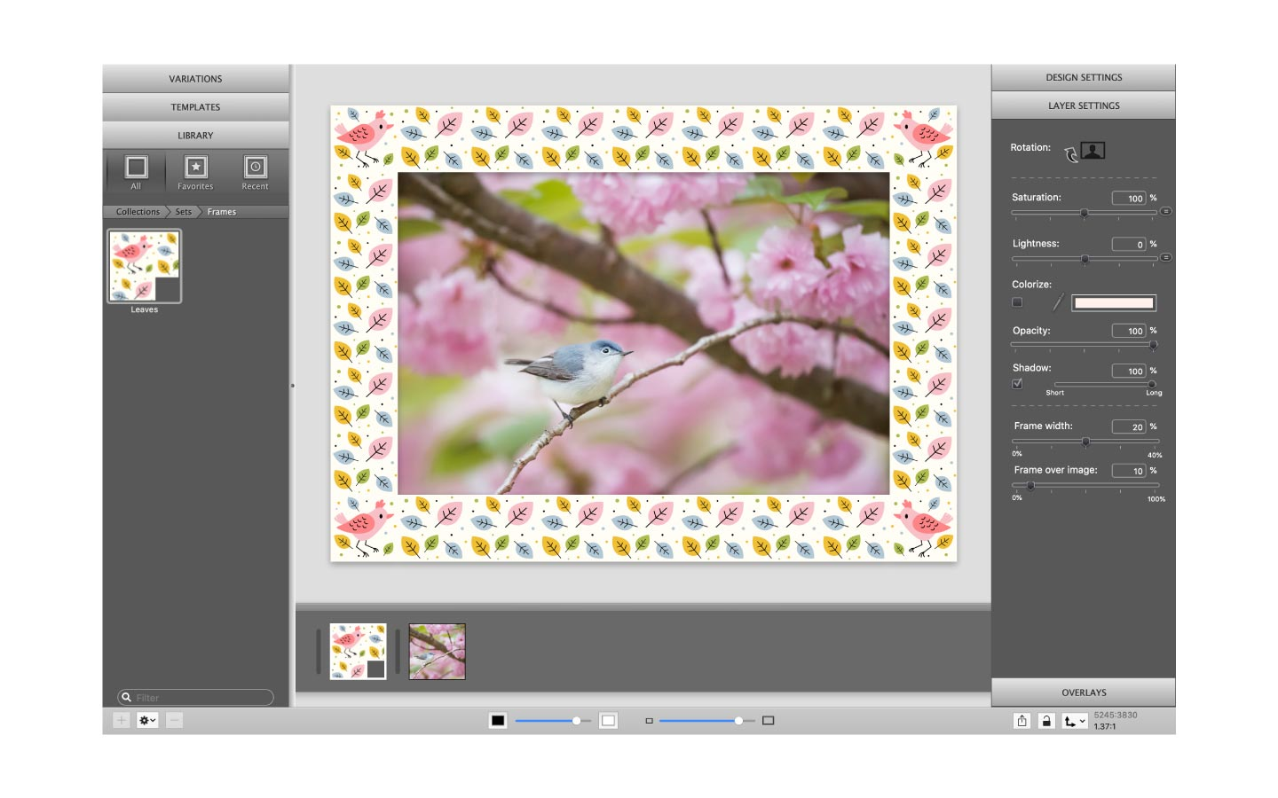 Use your own frame design in ImagFramer