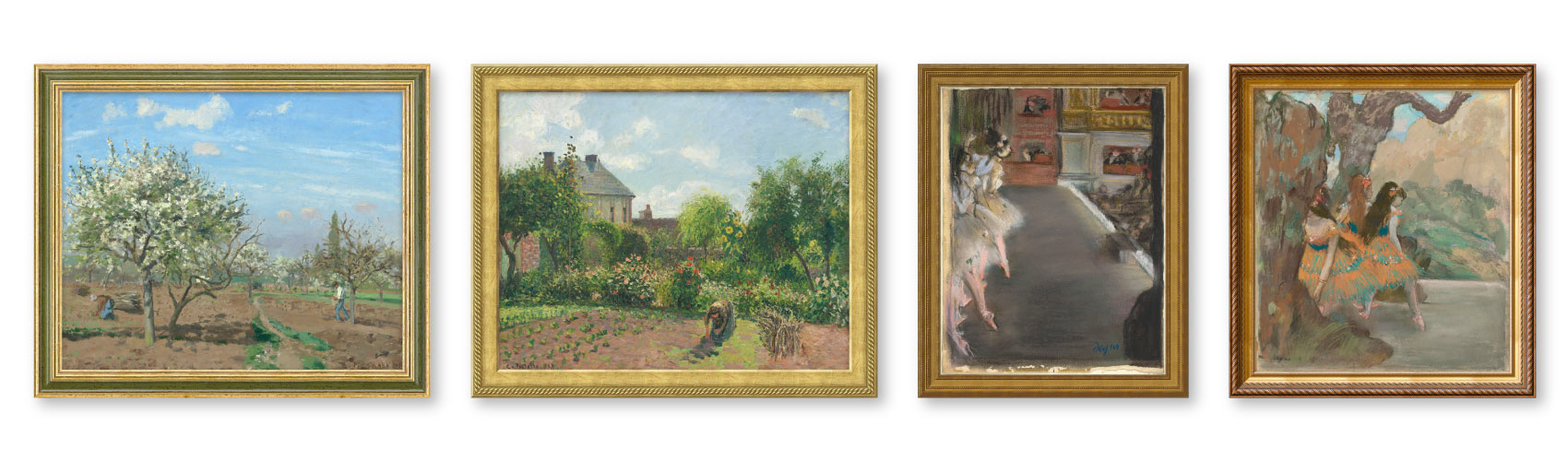 Artworks produced by Pissarro and Degas