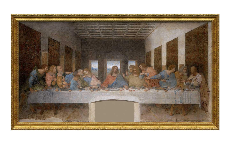 The Last Supper by Leonardo Da Vinci in a gold frame
