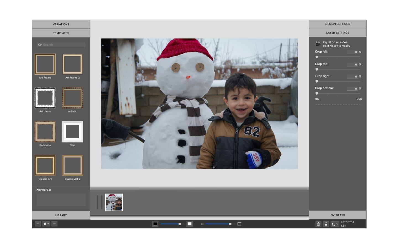 Winter photo waiting to be edited in ImageFramer app