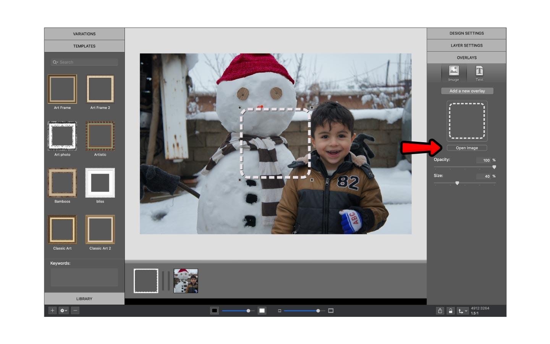 Add a new overlay in ImageFramer