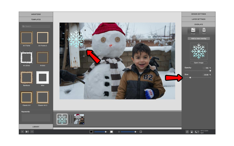Adjust size of overlay in ImageFramer