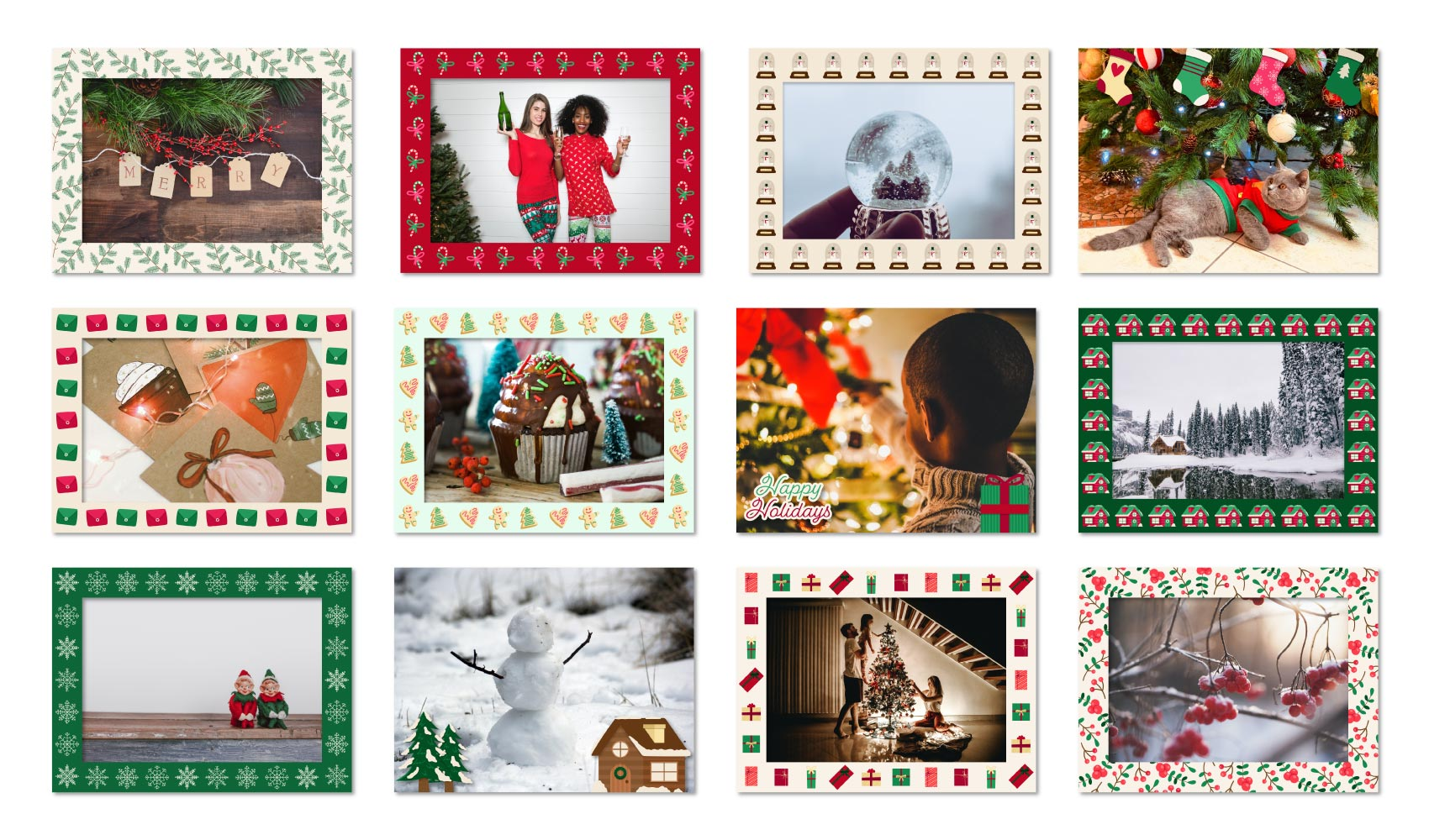 Twelve Days of Christmas Frames
