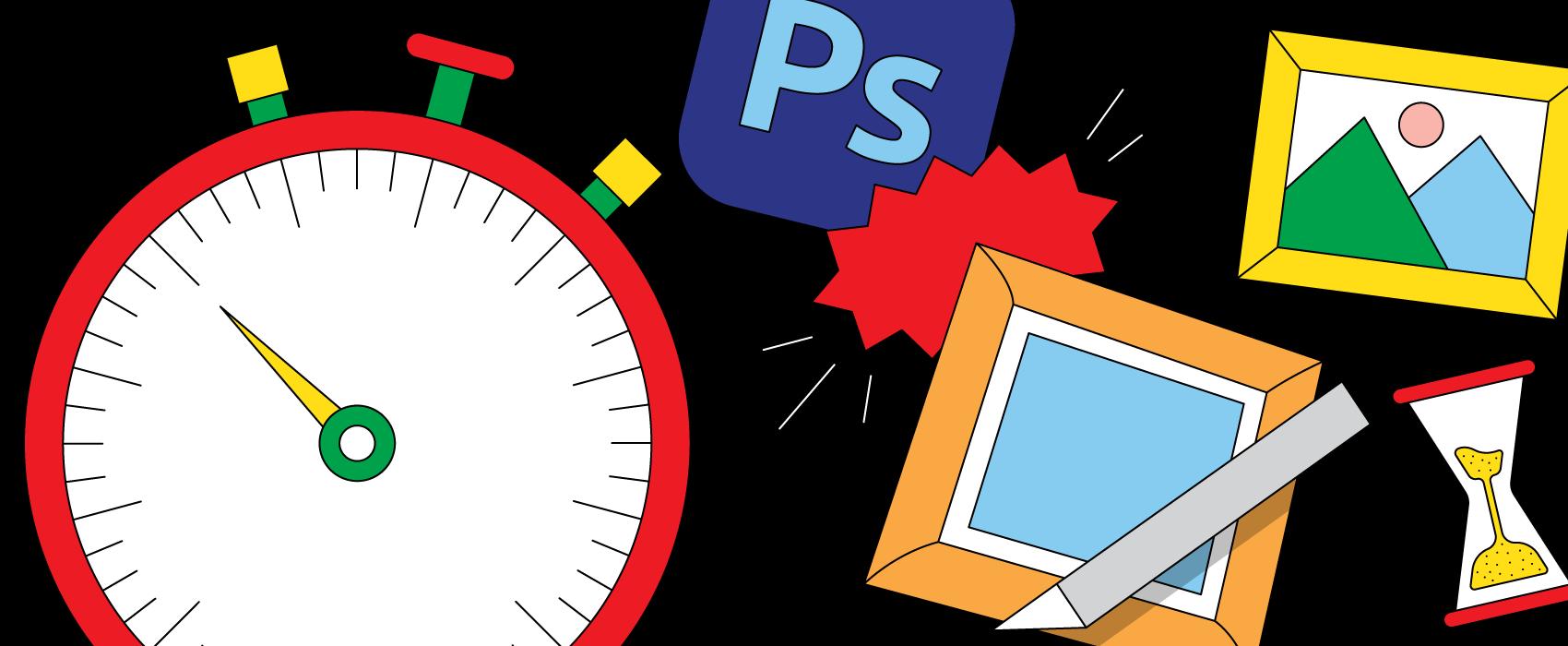 Time efficiency between Photoshop and ImageFramer digital framing apps