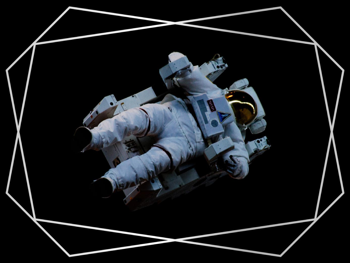 Silver geometric frame for Mac in ImageFramer