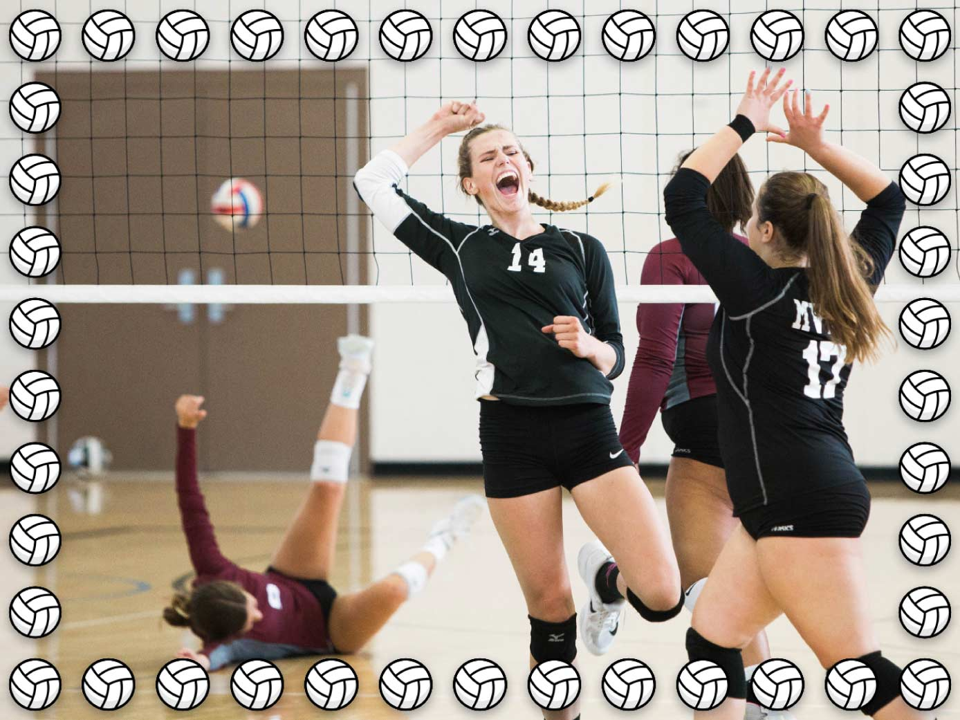 Volleyball frame available for Mac in ImageFramer