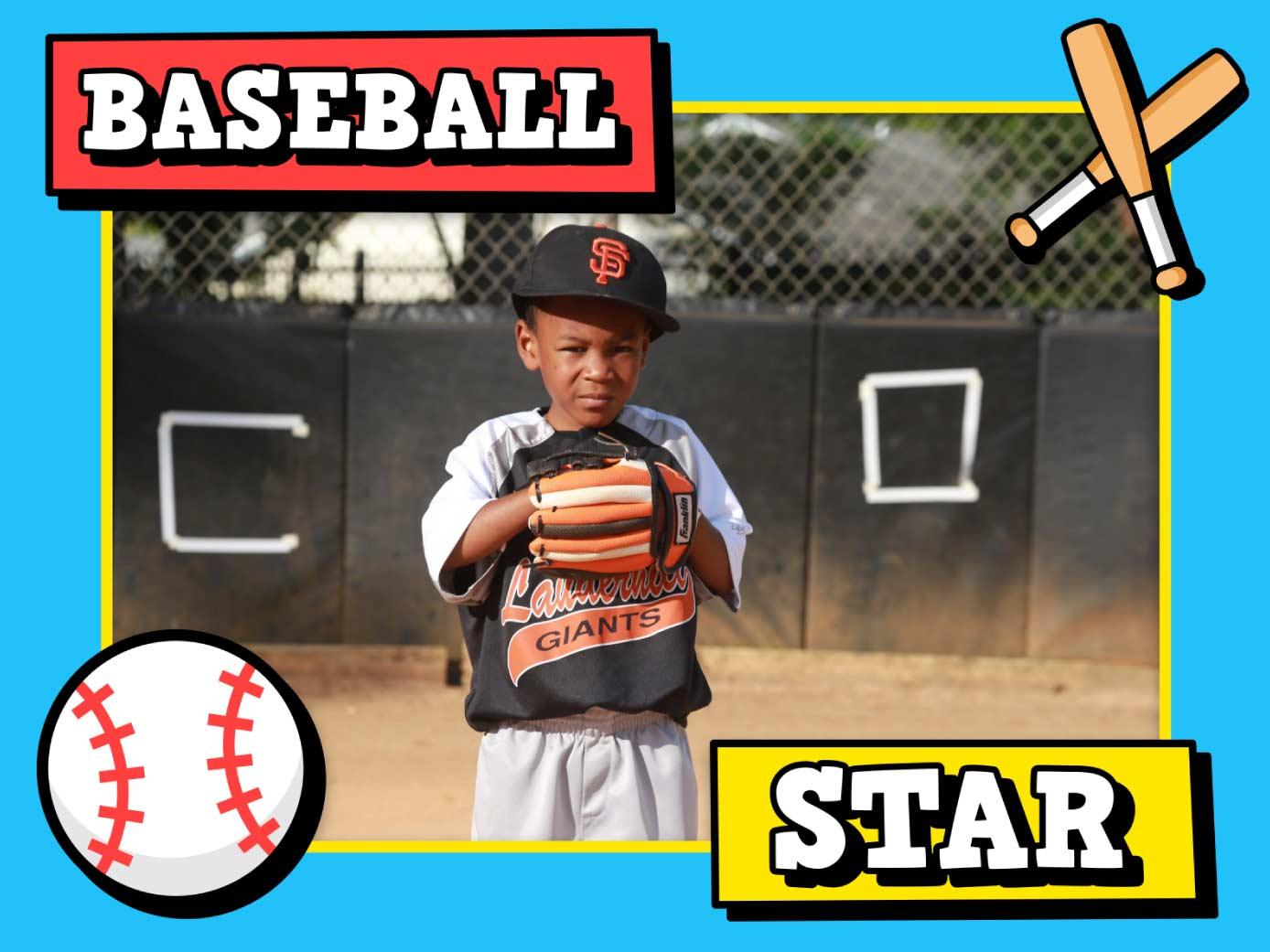 Baseball frame available for Mac in ImageFramer