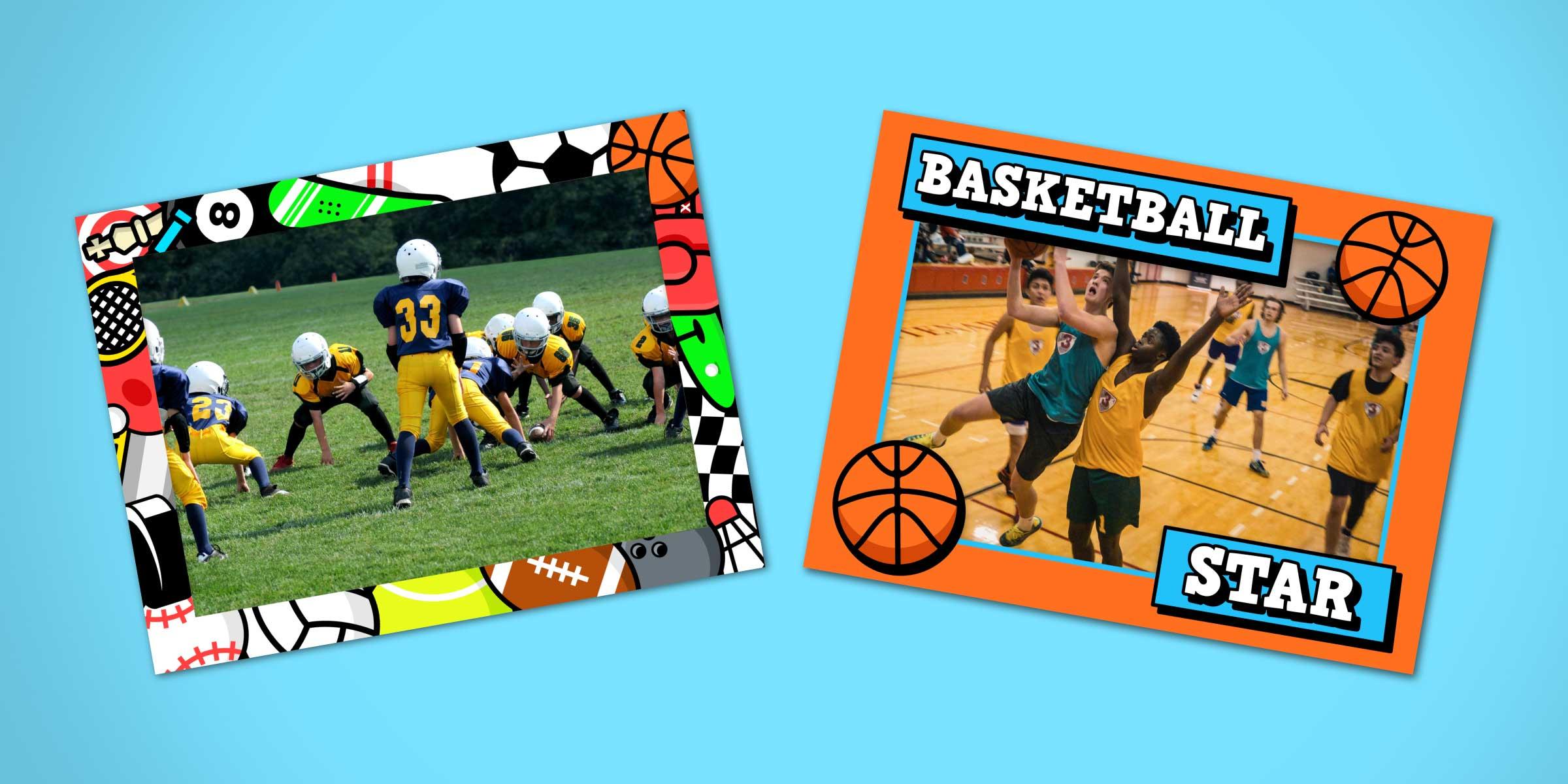Sports frames for Mac in ImageFramer