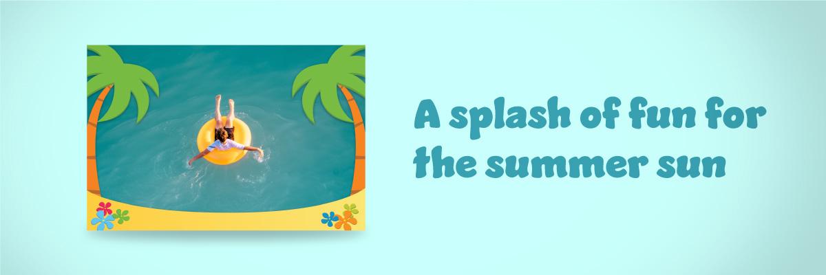 Digital summer frames available for Mac