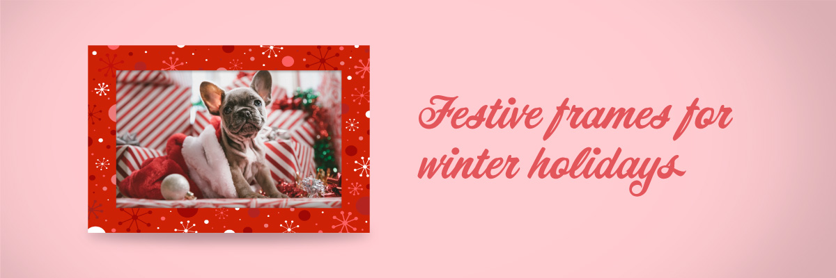 Digital winter frames available for Mac